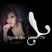 P Hot Selling  White Male Prostate Massager Stimulator massage T0520 W