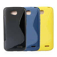 500pcs S Line Gel Soft TPU Mobile Phone Cover Cases For LG L90 D405/D410 DHL Free Shipping