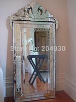 MR-201337 glass venetian wall mirror with garment design