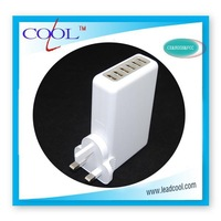 Universal 6 USB Ports with UK Plug Home Travel Wall AC Power Charger Adapter For Samsung Galaxy S4 S3 iphone 4S 5 ipad 2/3 Mini