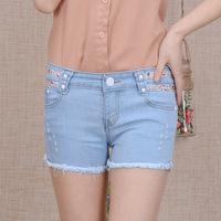 #902 New 2014 fashion high quality women lady girls denim jeans Korean summer vintage shorts