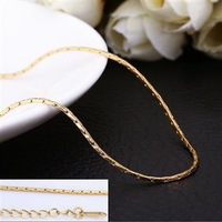 Top Quality Promotion 3 Colors 18k Gold Plated Chain Link Necklace Woman Man For charm Pendant Rose Yellow White Gold 15mm Rolo