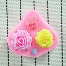 Qualidade do molde de silicone Flor 2O14 New High, Ferramentas Fondant decoração do bolo, moldes fondant , bolo silicone Mold(China (Mainland))