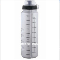 2014 NEW Free shipping New Gray Cycle Bike Bicycle Sports 1000ml Plastic Water Bottle With Dust Cover