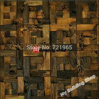 3D wood wall tiles backsplash wooden parquet mosaic NWMT101 TV background wood tiles mosaic