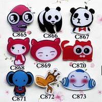 min order is $15 popular new cute Anime lovely  panda cartoon pins cool brooch   865