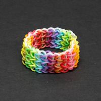 Rainbow Kit Kid's DIY Bracelets +600 MIX COLORED Rubber Bands&Clips