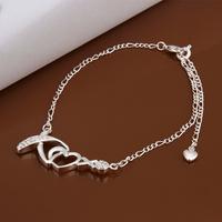 New arrival silver bracelet leg crystal anklet jewelry metal ankle cuffs Free shipping LKNSPCA002
