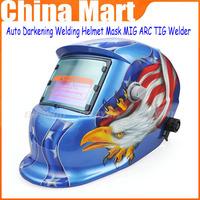 Free Shipping American Eagle Flag Solar Auto-darkening Welding Helmet