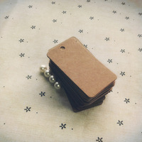Free shipping-100pcs  Square shape cardboard tags Kraft tag Wedding Favor  - Table Number - 5.4*2.8CM, decorating tools #4