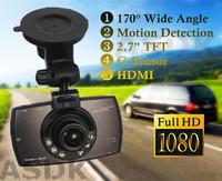 NEW! 1920*1080P FULLHD Car DVR, G30 Novatek 96650 Car record, black box, 170+2.7 lcd+6IR Night Vision+G-Sensor+Motion Detection
