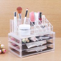 Free Shipping 24*13.5*18.5cm Clear Acrylic Makeup Organizer Cosmetic Storage Stand Holder Cases Acrylic Makeup Boxes