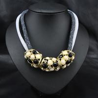 Wholesale New 2014 Fashion Perfume Women Jewelry Accessories Rhinestone Alloy Beads Statement Pendant& Necklace Collar