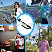 10sets (10pcs monopod +10pcs clip holder)Selfie Rotary Extendable Handheld Camera Tripod Mobile phone Monopod