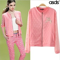 Retail 2014 New Fashion Fashion Long Sleeve Slim Summer Jackets Women & Short Coat Women 13826