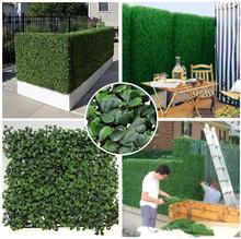 Novo estilo à prova de fogo anti UV de hedge buxo artificial plantas 50 cm X 50 cm folha esgrima privacidade folhagem grama para jardim-g0602a001j(China (Mainland))