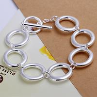 "Wholesale H147 Trendy 925 Sterling Silver Beautiful 7 ""O"" Bracelet Chain,Top Jewelry Bracelet Free Shipping"