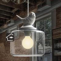 American retro minimalist creative children's room bedroom dining stairs Single European bird chandelier