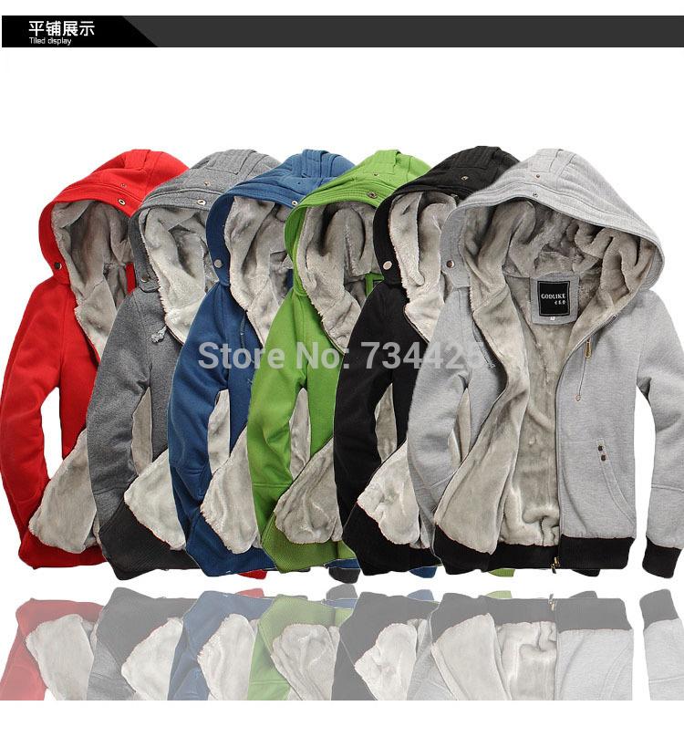 Uomini casual moleton 2014 jaqueta masculina College felpa con cappuccio uomini giacca varsity nero rosso verde blu 6- colore moletom masculino