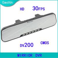 Free Shipping DV200 1920*1080 HD Mirror DVR Rear View Camera 2.7 Inch LCD+H.264+Motion Detection+Loop Recording+G-sensor