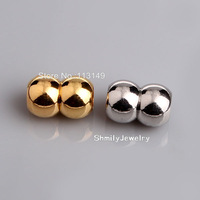 DHL Free Shipping Hot Sale Hole Size 6mm  Round Magnetic Clasps For Bracelets Making PMC-M001