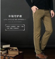 2014Fashionable man Pure cotton Casual pants /Fashionable man Business trousers /Men's leisure pants  29-38 New 3 color / 9 Size