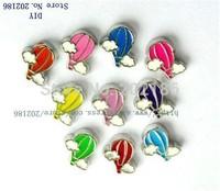 10pcs Zinc Alloy Mix Color Parachute Floating Charms Fit Floating charms lockets FC136