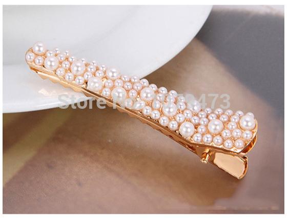 H011 Pearl Hair Pin Koran Style Fully Jewelled Classic Hair clip Free shipping(China (Mainland))