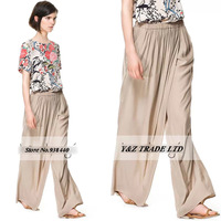 Elastic Waist Casual fashion loose Wide Leg Pants Wholesale cheap Free shipping 6 size Beige Harem Pants Trousers pants HDY70