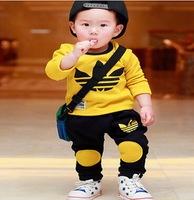 2pcs/set Baby & Kids Suit Boys Girls Long Sleeve Shirt + Pant Sport Clothes Hoodies Children Outfit 5pcs/lot