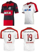 hot 14/15 Flamengo home and away soccer football jersey best Thailand quality soccer jerseys uniforms embroidery logo