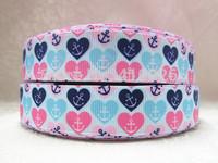 WM ribbon 7/8inch 22mm 14526023 printed grosgrain ribbon 50yds/roll free shipping