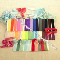 Optional colors 20pcs/lot Ribbon Elastics Hair Bands-Girls Women's Hair Accessories Emi Jay Like Elastic Yoga Leopard Hair Ties