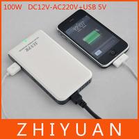 DC 12V to AC 220V Power Inverter 100W PURE SINE USB Port Slim CAR DC/AC POWER