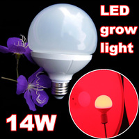 2pcs/lot factory directly sell high power 14w led grow light infrared ray E26/E27 led bulb grow light