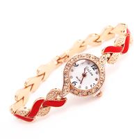 Wholesale Gogoey Brand Fashion Women Lady  Crystal Quartz Dress Watch Wristwatches GO123