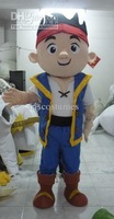New Style jake the neverland pirates Adult Size Cartoon Mascot Costume Fancy Dress  Free Shipping