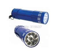 3w 9 LED Super Bright Bulb Flashlight Electric Torch (Blue)