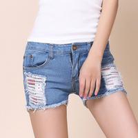 #8821 New 2014 fashion high quality women lady girls denim jeans Korean summer vintage shorts