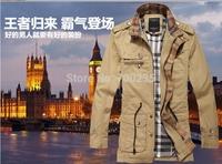 2014 the spring and autumn men's long collar jacket  leisure jacket The city boy thin coat jacket   1222 M-XXL