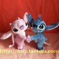 Free shipping 28cm new Lilo and stitch lovers dancing plush stuffed baby toys children cartoon animal dolls birthday gift584