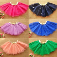 4pcs/lot children's clothing network Super cute mini gauze skirt Girl's multicolor cake dance skirt for The kindergarten