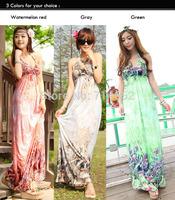 Summer dress 2014 sexy vestidos Women Elegant Vintage v-Neck floral beach chiffon Dress long maxi Women Dresses clothes GZ104