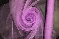 Free Shipping!New Arrival Pinky Purple Color (fuchsia) Wedding Organza Fabric For decorations