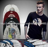 2104 New Arrival Fashion Men's Long Sleeve Cotton Brand Tshirt Quality Slim Men T-Shirt S M L XL XXL Personlity Design