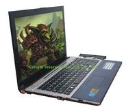 "laptop 15.6"" computer Intel D2500 cpu Dual-core 2 thread window 7 system camera 2MP 4G 320G HDMI USB2.0 Wifi DVD ROM VGA"