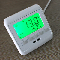 2014 New Digital Thermostat Room Temperature Controller Weekly Programmable Green LCD Display Warm Floor Heating Free Shipping