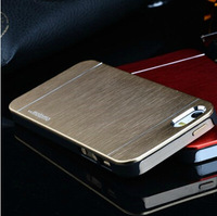 Retail for iphone 5 5S case luxury motomo design metal+PC material free shipping