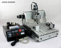 Ship from UK NO duty 800w 4Axis CNC 4030Z Engraving machine Router Milling Drilling Cutting machine 110V 220V