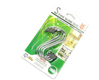 free shipping 304 stainless steel kitchen universal single s metal hook,4pcs/pack